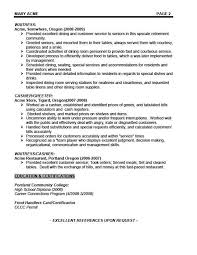 Waitress Job Description For Resume Awesome Sample Waitress Resume