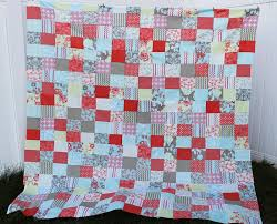 Free Quilt Patterns for Beginners- Easy Patchwork | The Stitching ... & I am kinda proud of myself for the way it turned out. Love it. Can't beat  free quilt patterns for beginners. Take a look at the finished quilt HERE. Adamdwight.com
