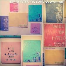 Canvas Wall Art Quotes Unique Wall Art Diy Canvas Canvas Wall Art Best Of Quotes On Canvas Wall