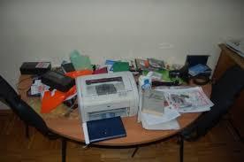 office radio. Minsk Office Of Radio Racyja Was Smashed Up - Photo