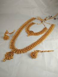 South Indian Traditional Gold Earrings Designs Amazing Traditional South Indian Long Necklace Set Gold