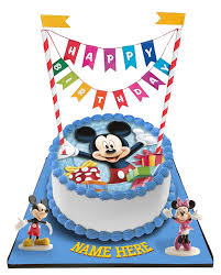 mickey mouse cake with toppers