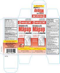 Childrens Mapap Acetaminophen By Major