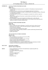 Manufacturing Engineer Resume Examples Manufacturing Engineer Engineer Resume Samples Velvet Jobs