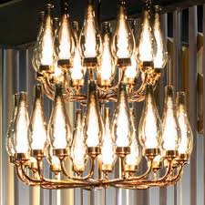 contemporary chandelier glass brass led don30