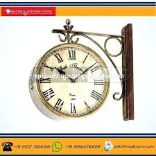 2 sided clock double sided clock supplieranufacturers at train station for vintage 2 sided clock