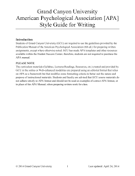 Apa 6th Edition Style Guide