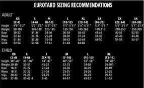 Eurotard Size Chart