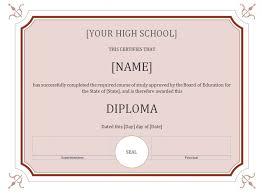 High School Diploma Template Sadamatsu Hp