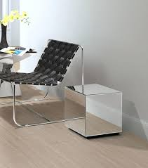 mirrored cube table next mirrored cube table