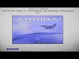 Answer Key For The Student Activities Manual For Arriba Comunicacin Y Cultura Youtube