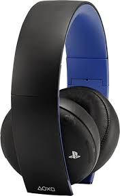 sony gold wireless headset. sony - gold wireless stereo headset for playstation 4 and 3 black angle s
