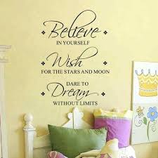 dream wall decor believe wish dream wall decals removable inspirational vinyl wall art es sticker for
