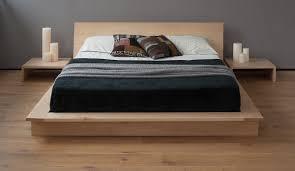 Natural Maple Bedroom Furniture Oregon Low Modern Bedside Table Natural Bed Company