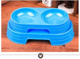 Online Shop Pet <b>dog bowl</b> dog double water food bowl <b>Plastic Cat</b> ...