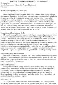College Personal Statement Examples 5 Personal Statement Examples To Write An Attractive Statement