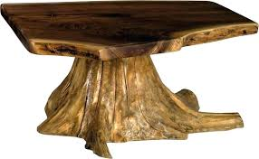 tree trunk dining table base tree stump table base rustic coffee table with stump base from