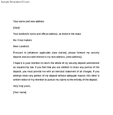 30 day notice to move out letter notice to vacate letter to landlord template gallery of notice of
