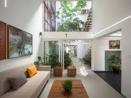 House Interior Garden Design A Gorgeous Home Split By A Covered Garden Atrium