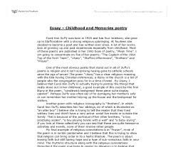 childhood and memories poetry a level english marked by  document image preview