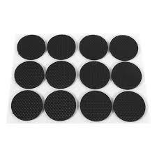 12pcs black self adhesive floor protectors furniture sofa table chair rubber feet pad round intl philippines