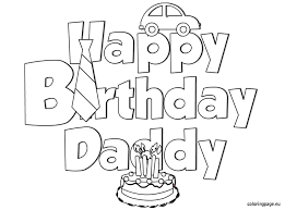 Happy Birthday Dad Printable Coloring Pages At Getdrawingscom