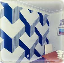 diy 3d cube painted wall
