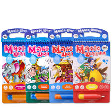 drawing toys magic water drawing book coloring book doodle with magic pen painting board juguetes for