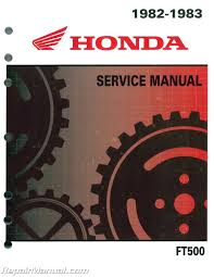 1982 1983 honda ft500 ascot motorcycle service manual repair 1982 1983 honda ft500 ascot motorcycle service manual 001