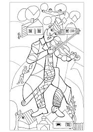 Pour Adulte Difficile Chagall Le Violoniste Vert 1923 24 New York
