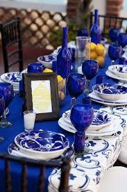 cobalt blue tablescape cobalt blue decor trend
