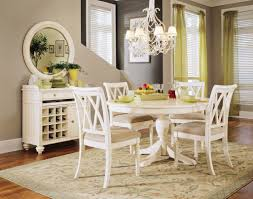 appealing white wooden round kitchen tables for with 4 white dining chairs for fabulous dining room decor