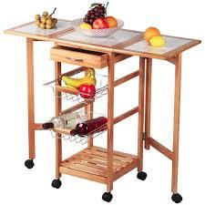 kitchen island cart white. Amazon.com: Topeakmart Portable Rolling Drop Leaf Kitchen Island Cart White Tile Top Folding Trolley Table, 1 Wood Drawer \u0026 2 Steel Baskets: I