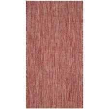 outdoor sisal rugs home depot safavieh courtyard red 2 ft x 4 ft indoor outdoor rectangle