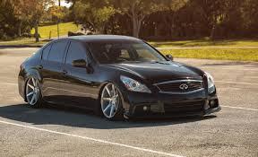 infiniti g37 black sedan. infiniti g37 sedan black vossen tuning drives infinity stance 7