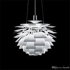 60cm ceiling pendant lamp poul henningsen ph artichoke hanging pendant lighting aluminum white wine red gold silver black copper for choose pendant drum