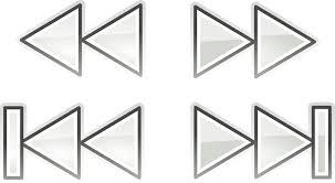 Reproduccion D Musica Hd Audio Playback Forward Rewind Back Next Keys Simbolo De