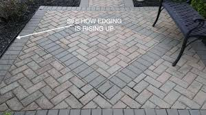 edging for pavers plastic edging popping up metal paver edging home depot