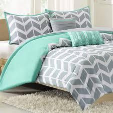 nadia chevron print twin comforter set teal photo 1