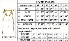 T Shirt Size Chart India Vs Usa Rldm