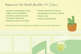 ilration of the health benefits of peppermint tea