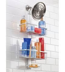 interdesign metro rustproof adjule bathroom shower caddy