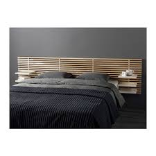 MANDAL Headboard - IKEA: This headboard with a California Queen bed.  Headboard fits up to bed, California Queen bed is