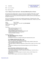 Sample Email To Send Resume For Job Sample Email Sending Resume Unique Sample Email To Send Resume To 13