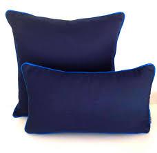 Outdoor Sunbrella Navy Blue Pillow Blue Outdoor Cushion UV Ray