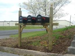 mailbox post ideas. Triple Mailbox Post Install Pro Outdoor Ideas Mail Boxes  And Curb Appeal Diy