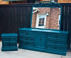Shabby Chic Black Bedroom Furniture Modernly Shabby Chic Furniture Peacock Blue Dresser Mirror And