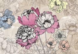 Bloemen Fotobehang Pioenrozen Vliesbehang 360 X 270 Cm
