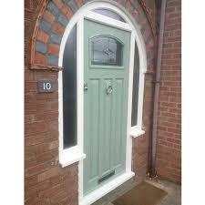 door with decorative glass