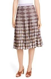 Cyrilla Pleat A Line Skirt In Purple Cobber Lurex
